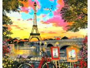Городской пейзаж Закат в Париже. Доминик Дэвисон