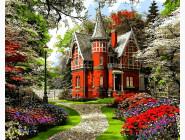 Городской пейзаж Викторианский дом. Доминик Дэвисон