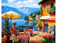 Море, морской пейзаж, корабли Кафе на озере