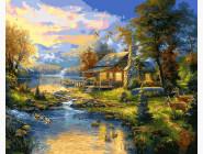 Пейзаж и природа Дом у озера