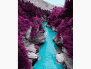 Пейзаж и природа Гора в багровых красках