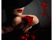 Портреты, люди на картинах по номерам Красотка с розой