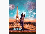 картина по номерам Фейерверк в Париже