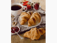 Картины по номерам для кухни Кофе на завтрак