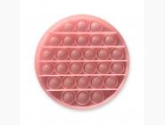 Pop it — антистресс игрушки Игрушка pop it, неоновый розовый круг
