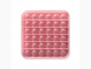 Pop it — антистресс игрушки Игрушка антистресс pop it, неон розовый квадрат