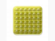 Pop it — антистресс игрушки Игрушка pop it, неон желтый квадрат