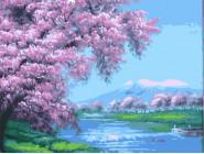 BK-G113 Картина раскраска без коробки В розовых лепестках
