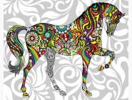 BK-GX21205 Рисование на холсте Цветочный конь