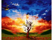 BK-GX21440 Рисование на холсте Краски заходящего солнца