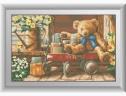 Дети, материнство Медвежонок с медом (квадратные камни, полная зашивка)
