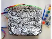Клатч (пенал) раскраска My Color Bag Совы 1 21х21 см