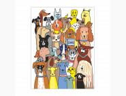 RS-N0001331 Картина раскраска 30 собак