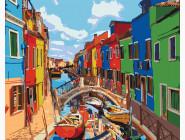 картина по номерам Яркие краски Венеции