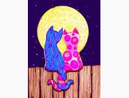 Котики под луной