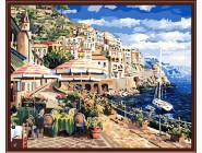 BK-G290 Картина по номерам Городок у моря (Без коробки)