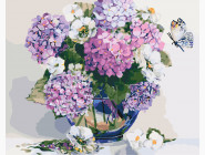 Цветы, натюрморты, букеты Гортензия и жасмин