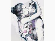 Романтика, любовь Объятия