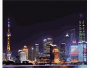 Городской пейзаж Ночной Шанхай