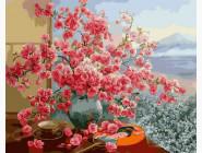 Цветы, натюрморты, букеты Ветка сливы