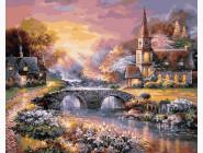 Закат над горной деревней