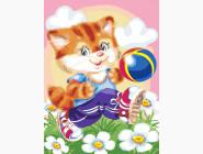 Котик футболист
