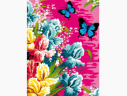 Ирисы и бабочки