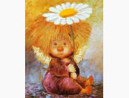 Дети, материнство Ангел с ромашкой