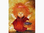 Дети, материнство Ангел с корзинкой цветов