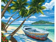 Морские пейзажи Пляж с пальмами