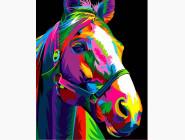 Животные и рыбки Радужная лошадь