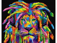 Животные и рыбки Радужный лев с дредами (горизонтальная)