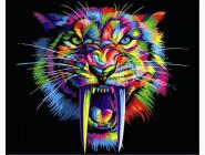 Животные и рыбки Радужный саблезубый тигр