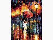 Прогулка под красным зонтом