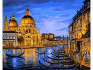 Городской пейзаж Причал ночной Венеции