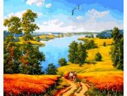 Пейзаж и природа Дорога среди полей