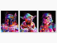 Триптих Звездные войны Боба Фетт Йода Штурмовик