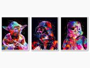 Триптих Звездные войны Йода Дарт Вейдер Штурмовик