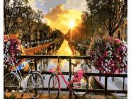 PGX21031 Картина раскраска Амстердам Каналы