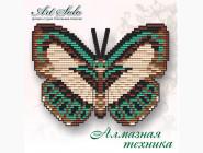 Бабочка магнит в алмазной технике Голубянка Данис