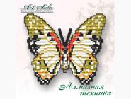 Бабочка магнит в алмазной технике Белая леди Анголы