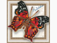 Бабочка из бисера на пластиковой основе Hypanartia Kefersteini