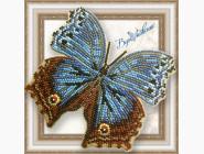Вышивка бисером Бабочка из бисера на пластиковой основе Salamis temora