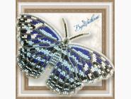 Бабочка из бисера на пластиковой основе Морская волна