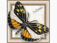 Бабочка из бисера на пластиковой основе Dismorphia eunoe desine