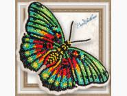 Бабочка из бисера на пластиковой основе Euphaedra edwardsi