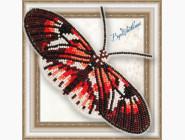 Бабочка из бисера на пластиковой основе Геликония Фортепиано
