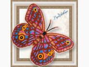 Вышивка бисером Бабочка из бисера на пластиковой основе Euptychia Agatha