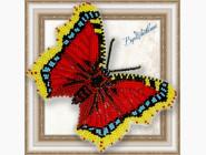 Бабочка из бисера на пластиковой основе Траурница