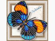 Бабочка из бисера на пластиковой основе Калликора сапфирная